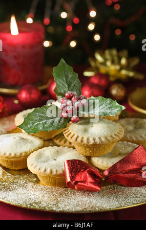 Mince Pies UK Essen - Stockfoto
