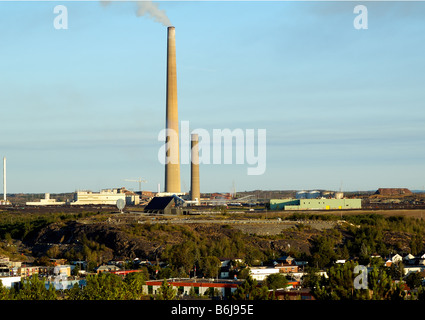Dies ist die Welt-berühmten Superstack in Sudbury, Ontario, Kanada - Stockfoto