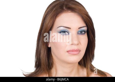 Schöne Frau tragen Make up - Stockfoto