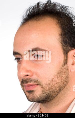 Das Gesicht des Mannes mit Bart - Stockfoto