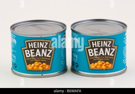 Dose Heinz Beanz in Tomatensauce, die in Großbritannien verkauft - Stockfoto