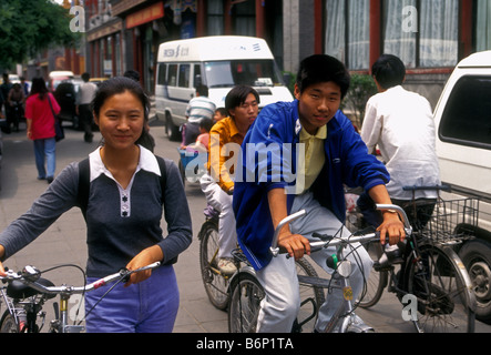 Chinesen, Radfahrer, Radverkehr, Hauptstadt Peking, Peking, China - Stockfoto