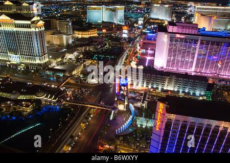 USA, Nevada, Las Vegas. Den Streifen in der Nacht - Stockfoto