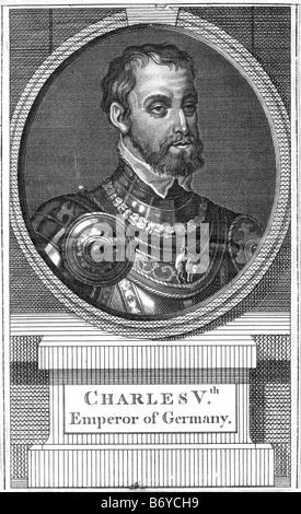 Karl v. (24 Februar 1500 – 21 September 1558) war Herrscher des Heiligen Römischen Reiches von 1519 und Charles - Stockfoto