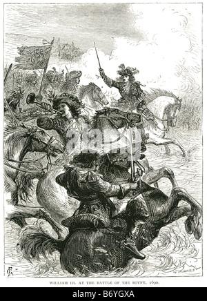 Wilhelm III. in der Schlacht des Boyne 1690 Cath Na Bóinne