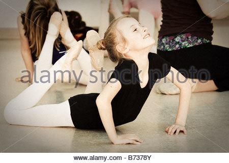 Ballerina im Ballett-Klasse - Stockfoto