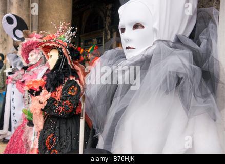 Porträt der schönen Masken in Venedig Italien - Stockfoto