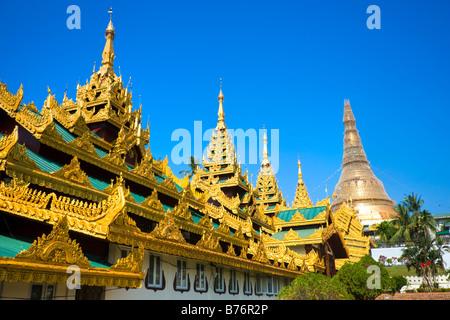 Shwedagon Paya der heiligsten buddhistischen Tempel in Myanmar Yangon Myanmar - Stockfoto