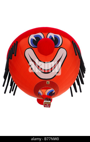 Heißluft-Ballon im Flug, spezielle Clown Form, Schroeder Fire Ballons Clown SS, Heißluftballon, International Ballon - Stockfoto