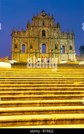 China, Macau, Portugiesisch Ruins of St. Paul - Stockfoto