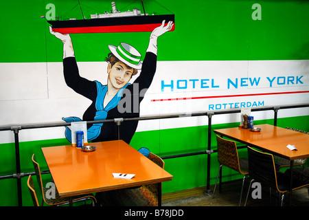 Hotel Café Restaurant New York, ehemalige Wartehalle der Holland-Amerika Lijn, HAL, auch der Hauptsitz des Versand - Stockfoto