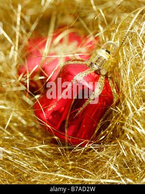 Christbaumschmuck, Weihnachtsbaumkugeln - Stockfoto