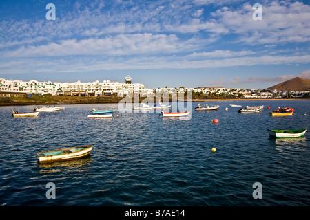 Costa Teguise Lanzarote Kanarische Inseln Spanien Europa Strand Playa Reise Tourismus - Stockfoto