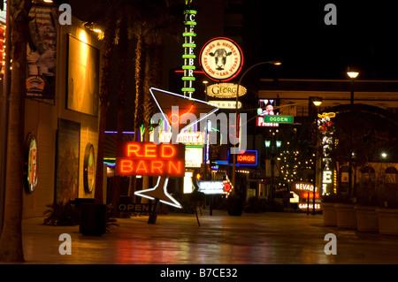 Casino-Zeichen, Innenstadt von Las Vegas, Nevada, USA - Stockfoto