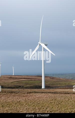 Windkraftanlagen in Elliots Hill/Wolf Moor Windfarm außerhalb Hennef, County Antrim. - Stockfoto