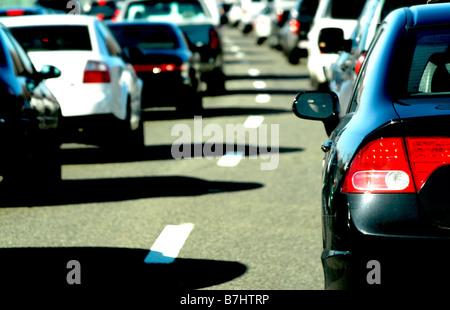 Verkehr in Sonne - Stockfoto