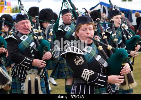 Aboyne schottischen Highland Games & sammeln, Aberdeenshire, Schottland, Vereinigtes Königreich - Stockfoto