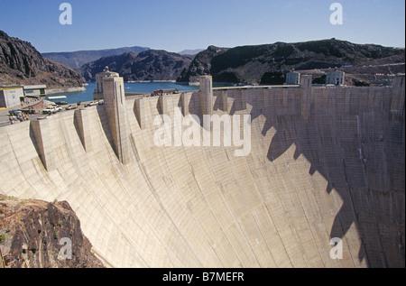 Einen Überblick der Hoover-Staudamm am Lake Mead auf dem Colorado River - Stockfoto