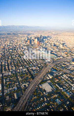 Luftaufnahme der Innenstadt von Los Angeles - Stockfoto