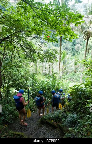 Rafting-Touren in der Nähe von Ubud - Stockfoto