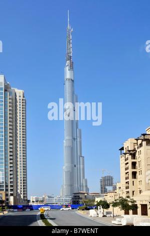 Der Burj Khalifa Dubai Gebäude in den Vereinigten Arabischen Emiraten - Stockfoto