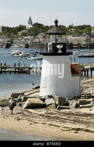 Brant Punkt Licht, Leuchtturm, Nantucket Insel, Massachusetts, USA - Stockfoto