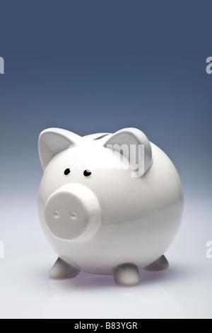 Weiße Sparschwein - Stockfoto