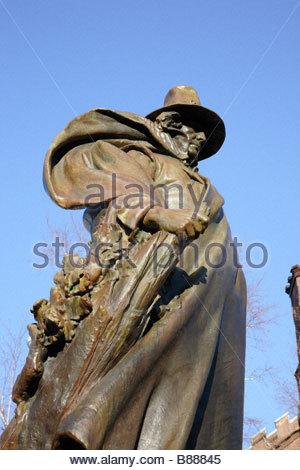 Roger Conant, die der Gründer von Salem MA diese Statue befindet sich neben dem Salem Witch Museum in Salem, Massachusetts - Stockfoto