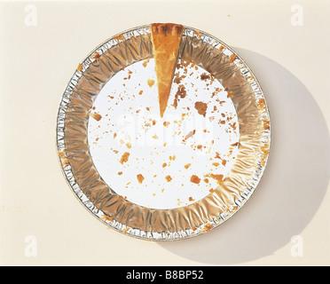 FL4144, Steve Lawrence; Übersicht, Pie Platte kleine Splitter Kuchen übrig - Stockfoto