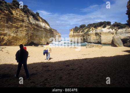 Auf viele solcher kleinen Strand Buchten im Bereich der zwölf Apostel an der Great Ocean Road in der Nähe von Melbourne, - Stockfoto
