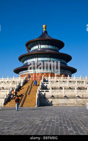 Tempel des Himmels Qinian Dian Peking China - Stockfoto