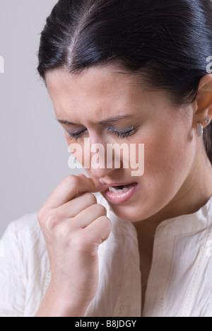 Frau mit Zahnschmerzen - Stockfoto