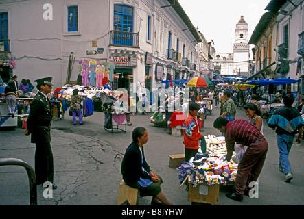 Ecuadorans, ecuadorianischen Volk, Straßenverkäufer, Calle Sucre, Ipiales Markt, Mercado Ipiales, Quito, Provinz - Stockfoto