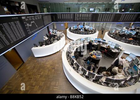 Handelssaal der Frankfurter Wertpapierbörse - Stockfoto