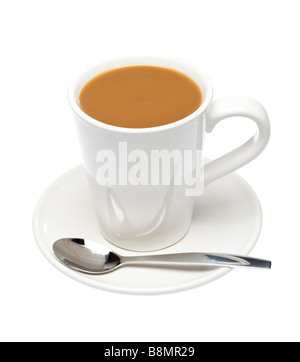milchkaffee tasse und untertasse isoliert auf wei em hintergrund stockfoto bild 20014477 alamy. Black Bedroom Furniture Sets. Home Design Ideas