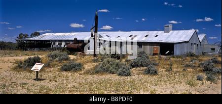 Kinchega Woolshed, Outback Australien - Stockfoto