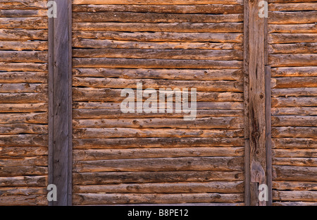 Drop-Log Wandaufbau, Outback Australien - Stockfoto