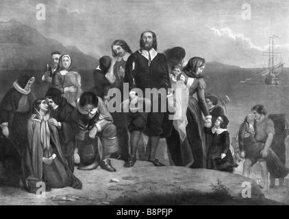 Die Landung der Pilgerväter - Stockfoto