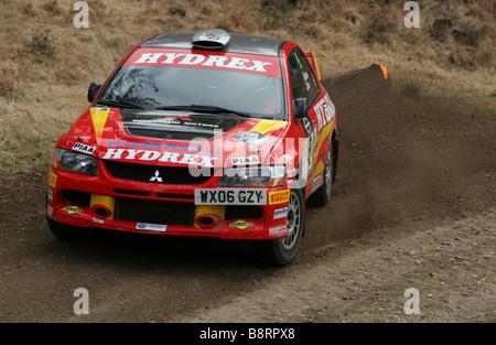 Lauffeuer der Rallye Auto Proforming Rallye Sunseeker 2009 - Stockfoto