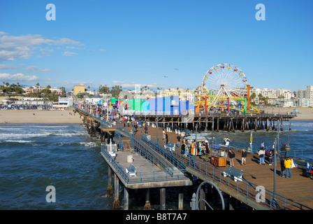 Santa Monica Pier, Santa Monica, Los Angeles, California, Vereinigte Staaten von Amerika - Stockfoto