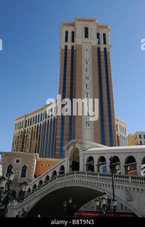 Das Venetian Hotel und Casino in Las Vegas - Stockfoto