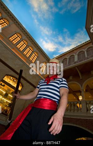 Gondel in Venedig Hotel Las Vegas - Stockfoto