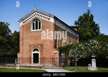 Fassade der Kapelle, Scrovegni Kapelle, Padua, Veneto, Italien - Stockfoto
