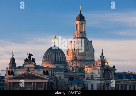 Kuppel der Frauenkirche Dresden Sachsen Deutschland - Stockfoto