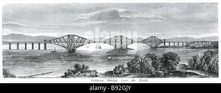 Eisenbahnbrücke über den forth The Forth Bridge ist eine Cantilever-Eisenbahnbrücke über den Firth of Forth im Osten - Stockfoto