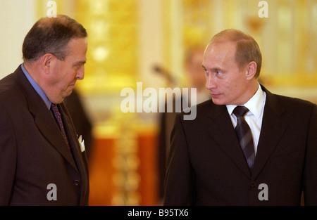 Mehrere Länder diplomatische Mission Köpfe präsentiert ihre Anmeldeinformationen an Russland s Präsident Vladimir - Stockfoto