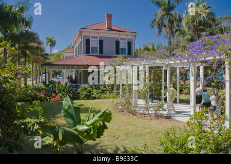 Seminole Lodge Edisons Winter nach Hause Edison und Ford Winter Estates in Fort Myers Florida - Stockfoto