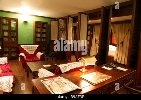Schlafzimmer eines exklusiven Clubs Beijing China Club - Stockfoto