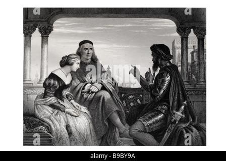 Orthello im Zusammenhang mit seinen Abenteuern Othello, der Mohr von Venedig ist eine Tragödie von William Shakespeare, - Stockfoto