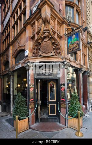 Herr Thomas Chop House, ein traditionelles Pub und Restaurant am Cross Street im Zentrum Stadt, Manchester, England - Stockfoto